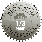 Red Venom Difference, same quality — 1/3 price